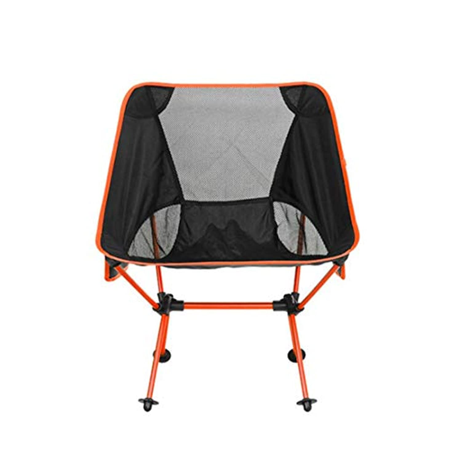 降伏評決ウサギ多機能屋外ピクニックサイドポケットオックスフォード布アルミ折りたたみチェア、ライトブルー (Color : オレンジ)