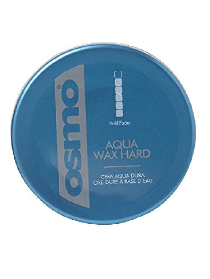 弾力性のあるセクタカウンターパートOsmo Aqua Wax Hard - For An Incredible Shine And Strong Hold - 100ml