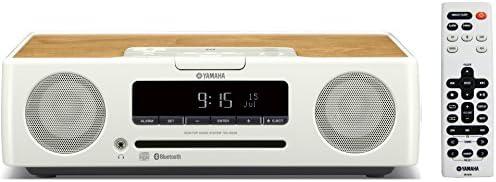 ヤマハ デスクトップオーディオシステム CD/USB/ワイドFM・AMラジオ/Bluetooth対応クロックオーディオ ホワイト TSX-B235(W)