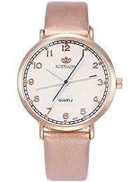 02a0bd7efa6b Yeefant 腕時計 レディース おしゃれ 人気 レザーバンド 白文字盤 時計 クラシカル デザイン 可愛 いシンプル カジュアル ウォッチ 女性用 腕時計 Watch プレゼント…