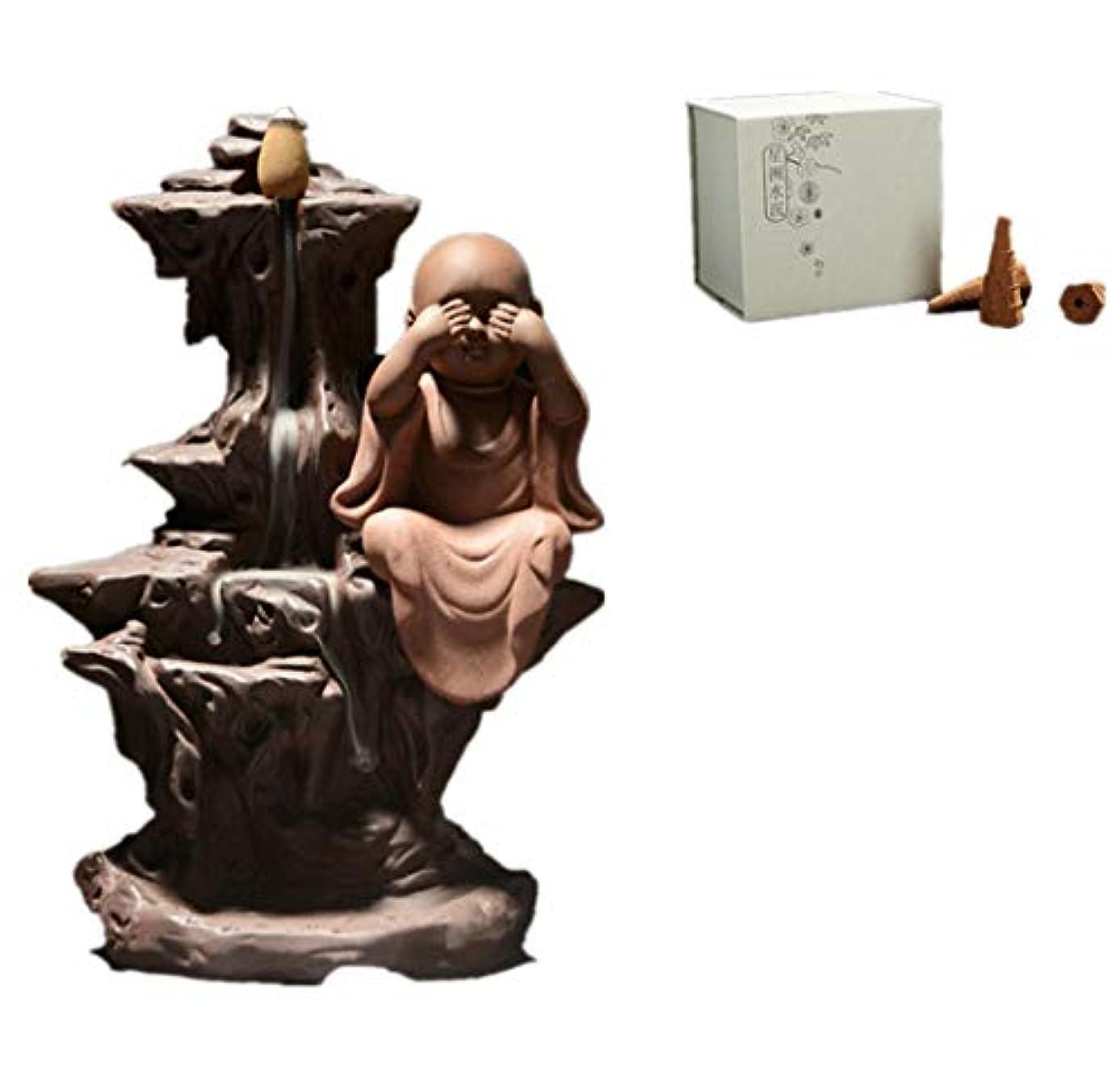 鉄道陰気オーブンXPPXPP Reflux Incense Burner With 40 Reflux Cones, Home Decoration Incense Stick Ceramic Backflow Cone Candlestick Burner