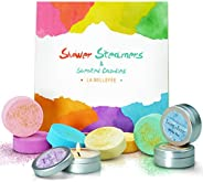 LABELLEFÉE Shower Steamers & Scented Candles, Bath Bombs 6 Different Aromatherapy Fragrances and 3 Candles