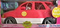 Barbie PET DOCTOR SUV VAN On The Go! Vehicle w Pop Out Care Station & Puppy (2001)