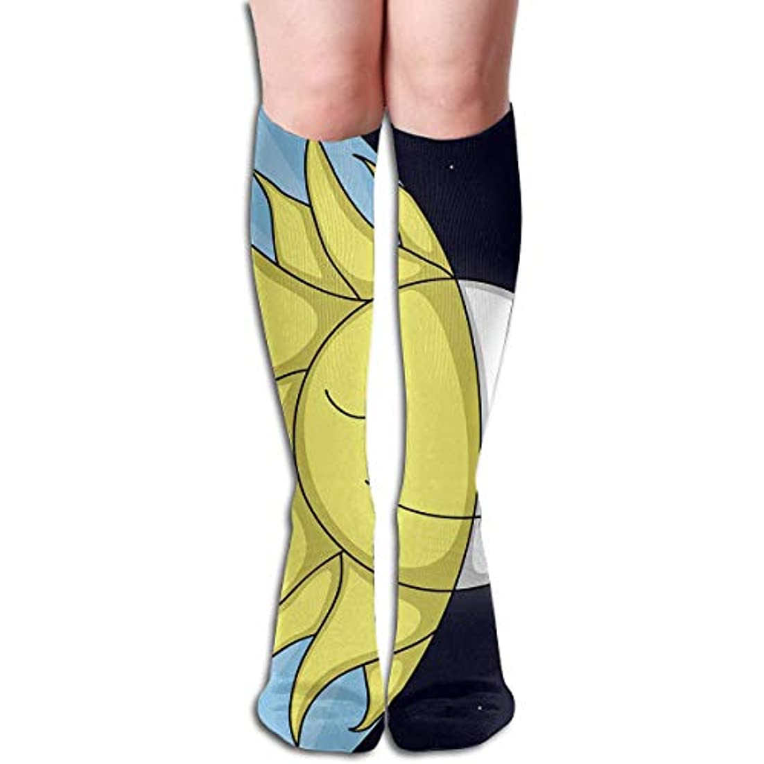彼洞察力のある医療過誤qrriy日と夜チューブストッキングレディース冬暖かい膝ハイソックスブーツ靴下
