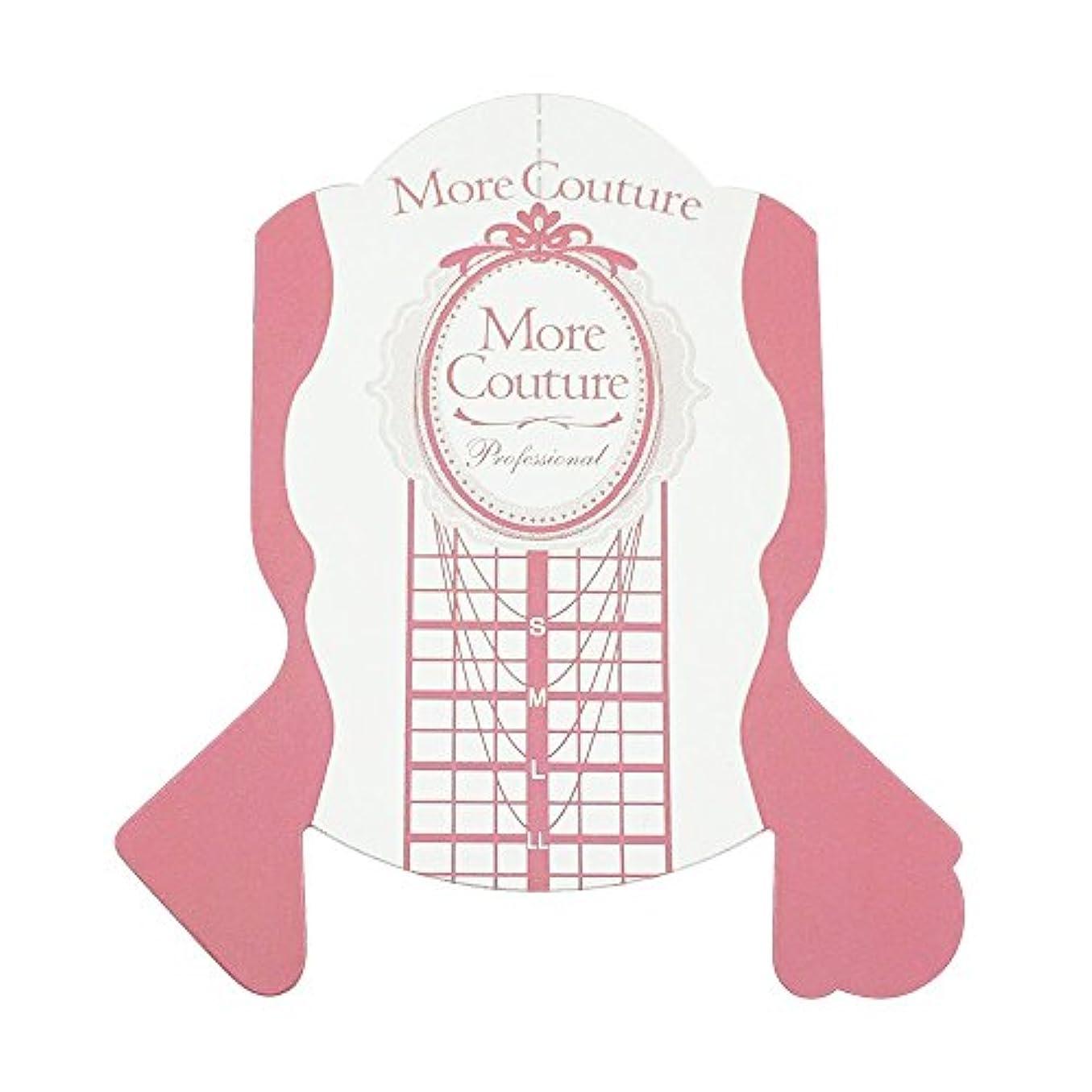 罹患率泥だらけオークMore Couture p ピンクフォーム 100枚 ネイルフォーム