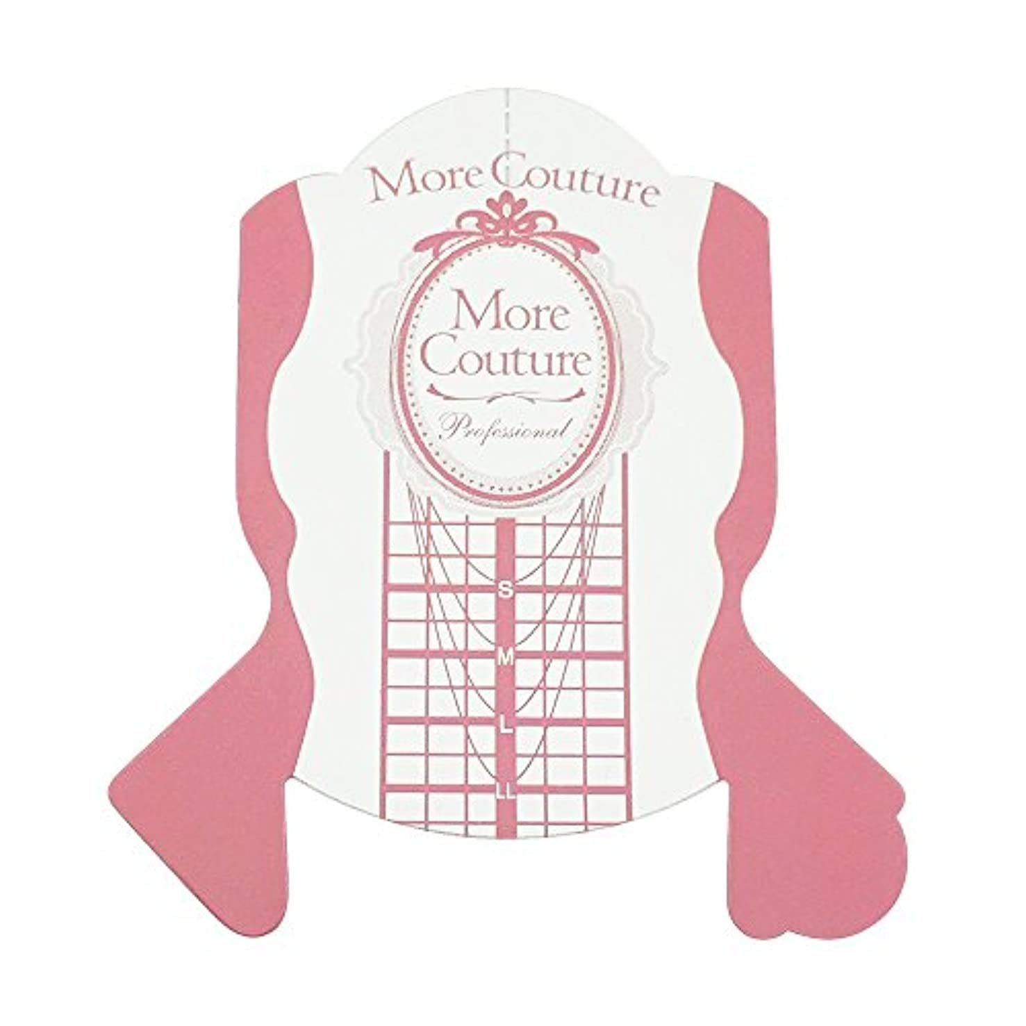 実行ダブルましいMore Couture p ピンクフォーム 100枚 ネイルフォーム