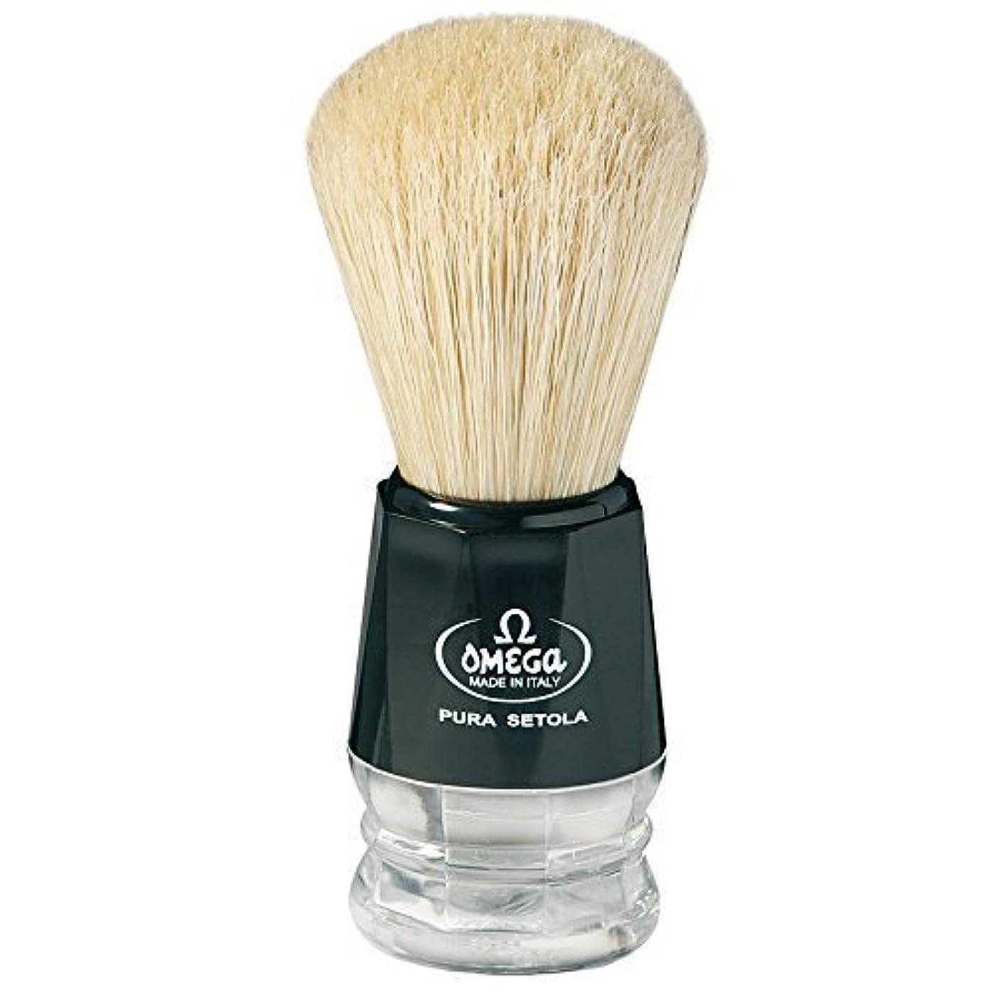 思春期びっくりした期待Omega S-Brush Fiber Shaving Brush- S10019 [並行輸入品]