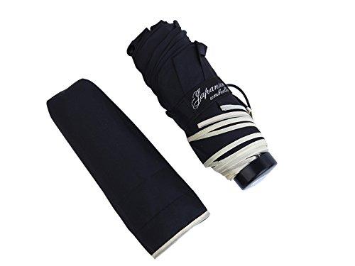 (ジャパナイス)JapaNice 折りたたみ傘 5つ折り UVカット 撥水加工 軽量 190g 黒 AQ886-B