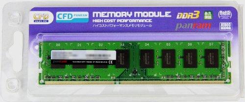 CFD販売  デスクトップPC用メモリ PC-10600(DDR3-1333) 8GB×1枚 240pin DIMM (無期限保証)(Panramシリーズ) D3U1333PS-8G