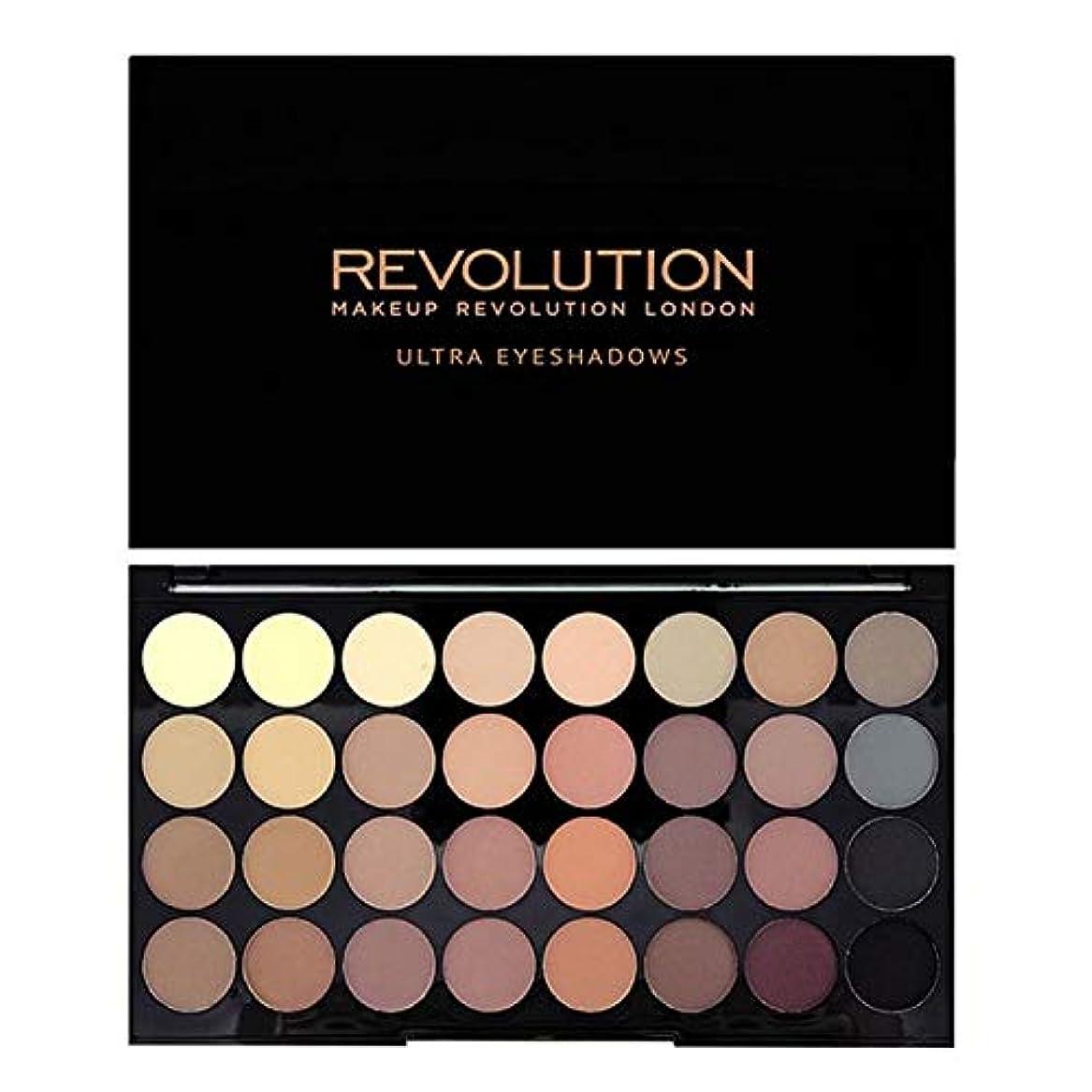首相電子レンジ満員[Revolution ] 回転超32完璧マットアイシャドウパレット - Revolution Ultra 32 Flawless Matte Eye Shadow Palette [並行輸入品]