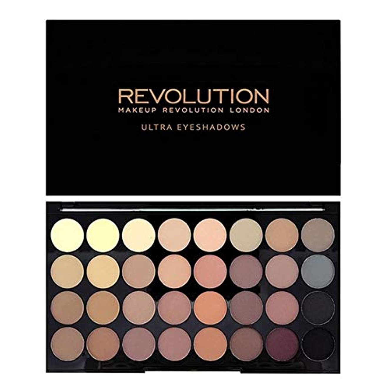 逸話フレッシュ酸化する[Revolution ] 回転超32完璧マットアイシャドウパレット - Revolution Ultra 32 Flawless Matte Eye Shadow Palette [並行輸入品]