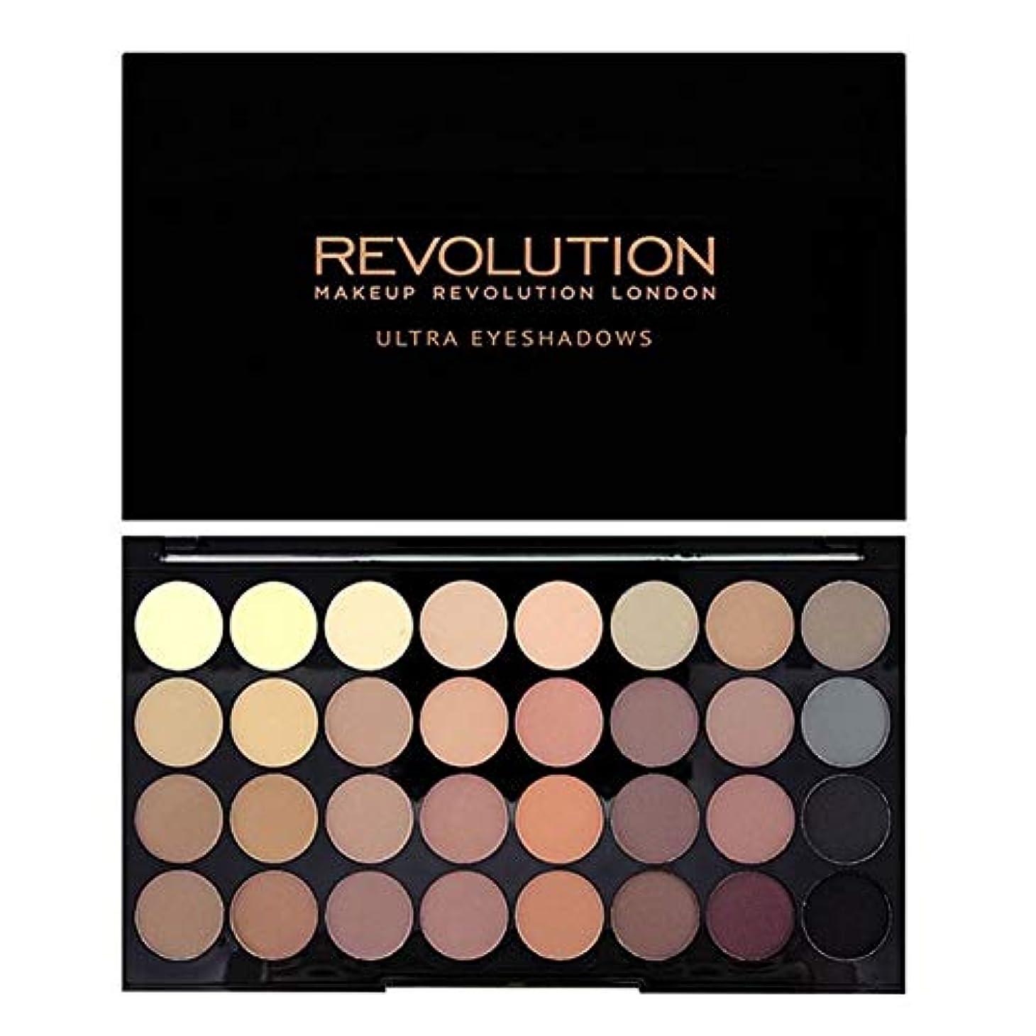 居住者慣習水陸両用[Revolution ] 回転超32完璧マットアイシャドウパレット - Revolution Ultra 32 Flawless Matte Eye Shadow Palette [並行輸入品]