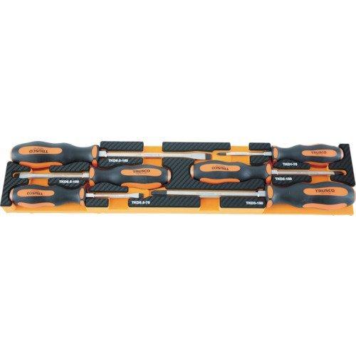 TRUSCO(トラスコ) EVAフォーム 黒Xオレンジ 3段式工具箱用 TPT55SF4