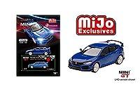 Mini GT New DIECAST Toys CAR 1:64 2017 Civic Type R (FK8) MODULO (LHD) (エーゲン・ブルー) - MIJO Exclusives MGT00017-MJ