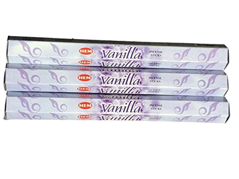 ビルマロマンス非効率的なHEM ヘム バニラ Vanilla ステック お香 3箱