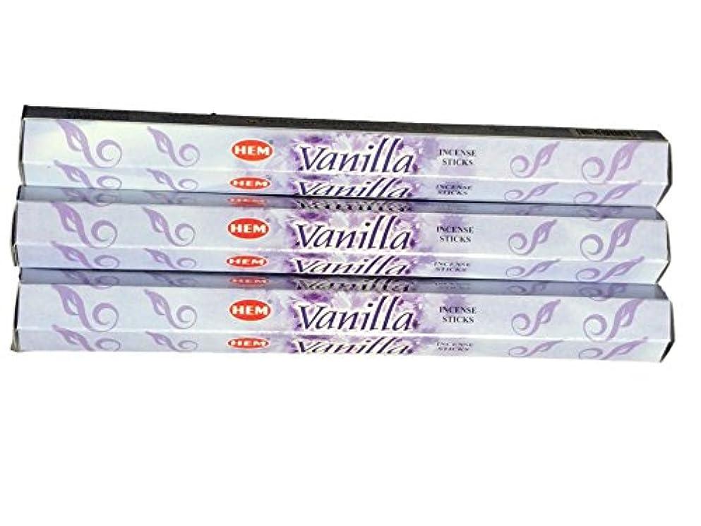 商人観点宿題HEM ヘム バニラ Vanilla ステック お香 3箱