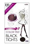 COLOR TINT カラーティント ブラックタイツ ブラック&ボルドー 110den