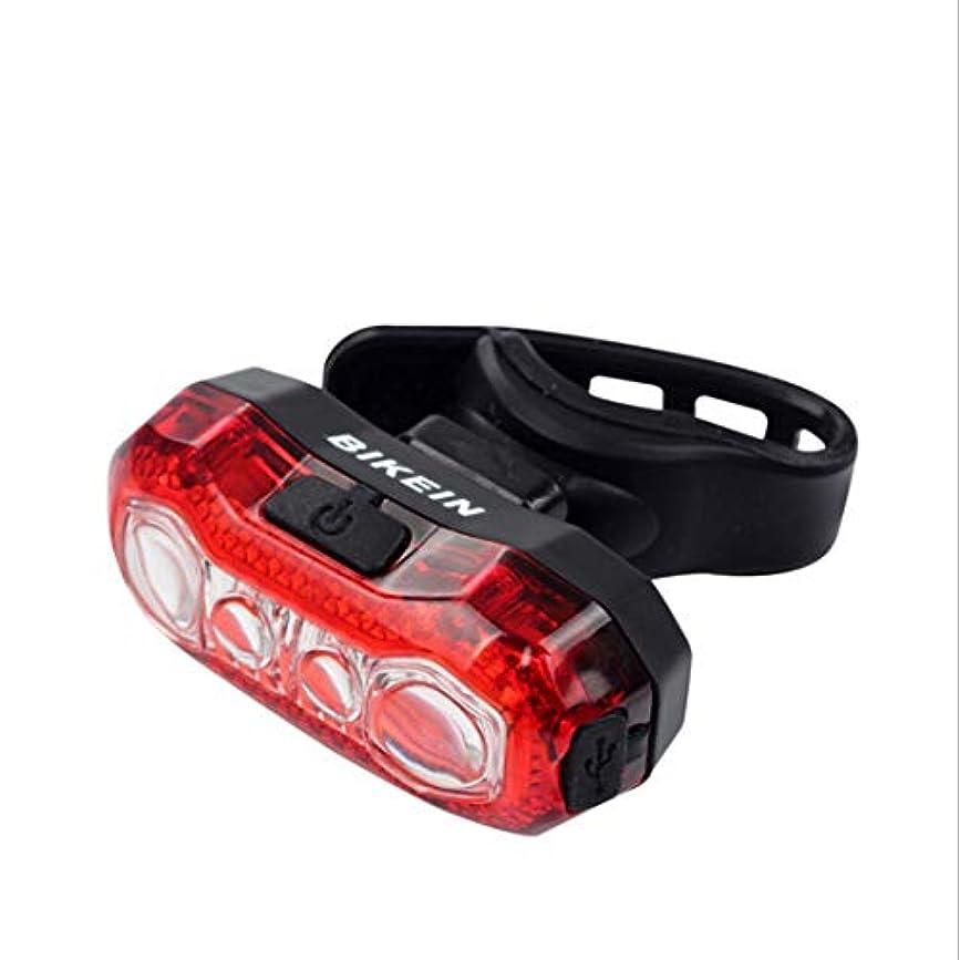 ママテザー滅びるCAFUTY マウンテンバイクLED灯台USB充電ナイトライディング警告灯ライディングアクセサリー (Color : Black red)