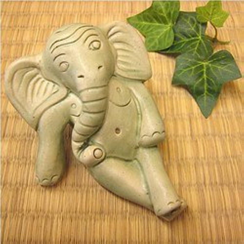 ディスコバーマドコンピューターゲームをプレイするタバナン焼 象さん お香たて アジアン雑貨