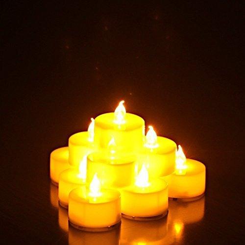 RoomClip商品情報 - YINING キャンドルライト  LED 蝋燭 クリスマス/パーティー/結婚式/誕生日用 12個入り 点滅仕様 YELLOW