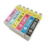 IC6CL50 エプソン 互換インク IC50 EPSON 6色セット ICチップ付 1年保証付 プリンター保証付