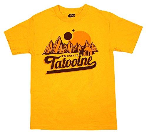 ユニセックス Tシャツ 【STAR WARS スター・ウォーズ / タトゥイーン Welcome to Tatooine / M サイズ / ゴールド (イエロー)】 【並行輸入品】