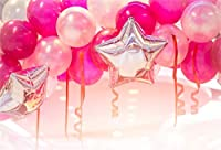 AOFOTO ポリエステル製 赤ちゃん用 1歳の誕生日パーティー用背景幕 ハッピーバースデーケーキ スマッシュ 写真背景 写真スタジオ小道具