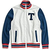 TOMMY HILFIGER Mens 78D5085 Adaptive Track Jacket with Magnetic Zipper Jacket - Gray