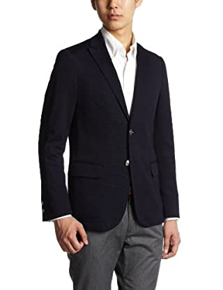 Coolmax Jersey 2-button Jacket 3122-186-0299: Navy