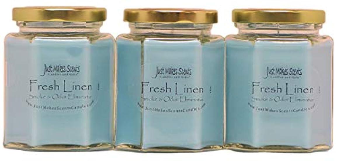 つらい業界バリアJust Makes Scents キャンドル&ギフトスモークペアレント Fresh Linen - 3 PACK