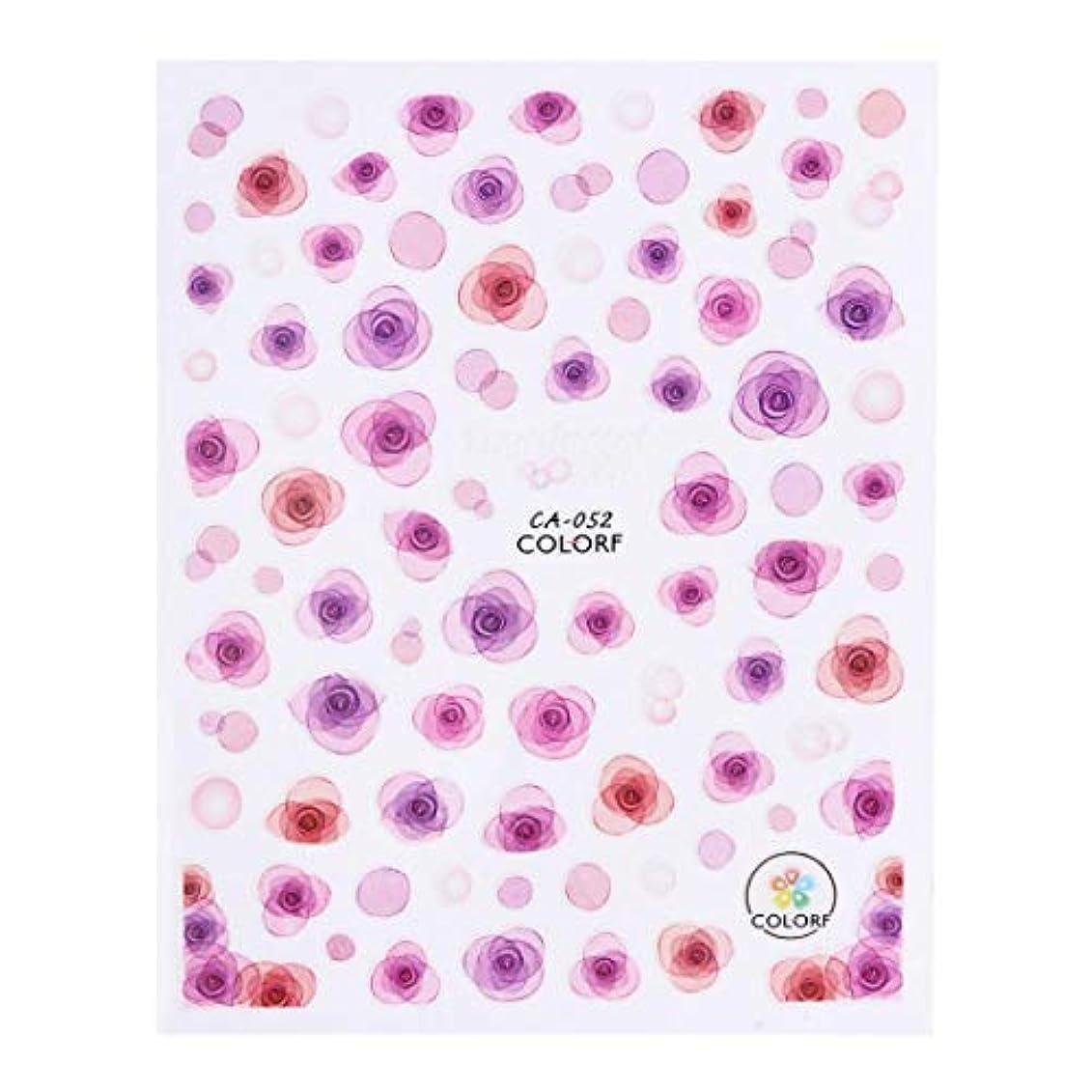 喉が渇いた鍔語SUKTI&XIAO ネイルステッカー 1ピース半透明の花びら3Dステッカーネイルデザインマニキュア箔の美しいバラの花のデカールネイルのヒント、Ca052