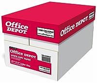 Office Depotホワイトコピー用紙、81/入れ物X 11で。、20lb。、84明るさ、10ケースReams