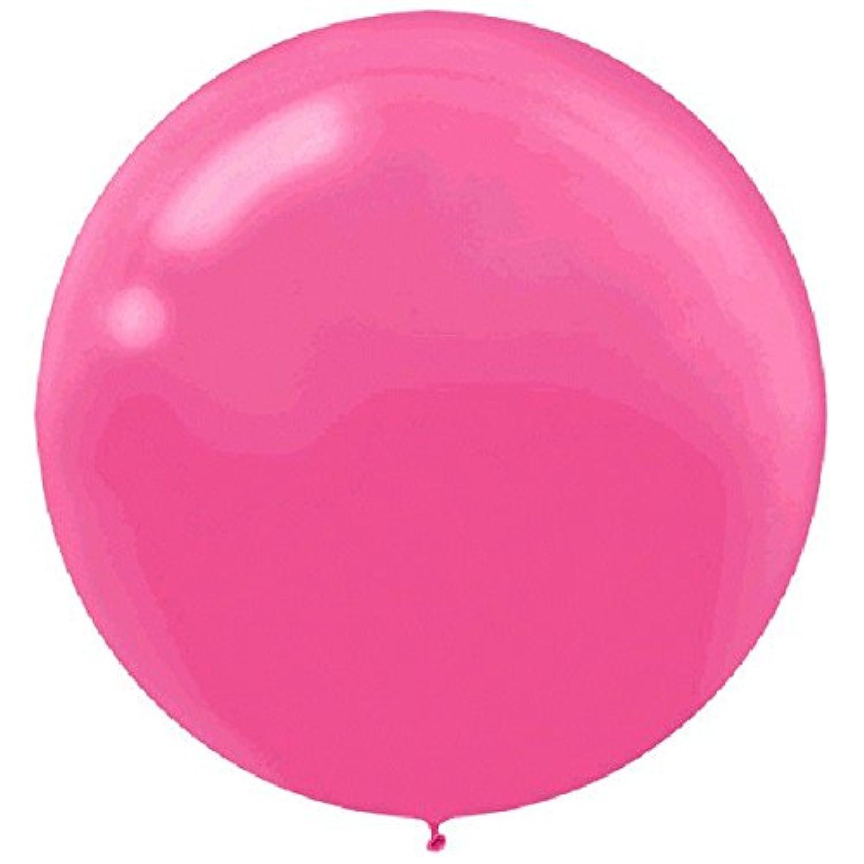 パーティーPerfect Roundラテックスバルーンデコレーション、明るいピンク、24インチ、4のパック