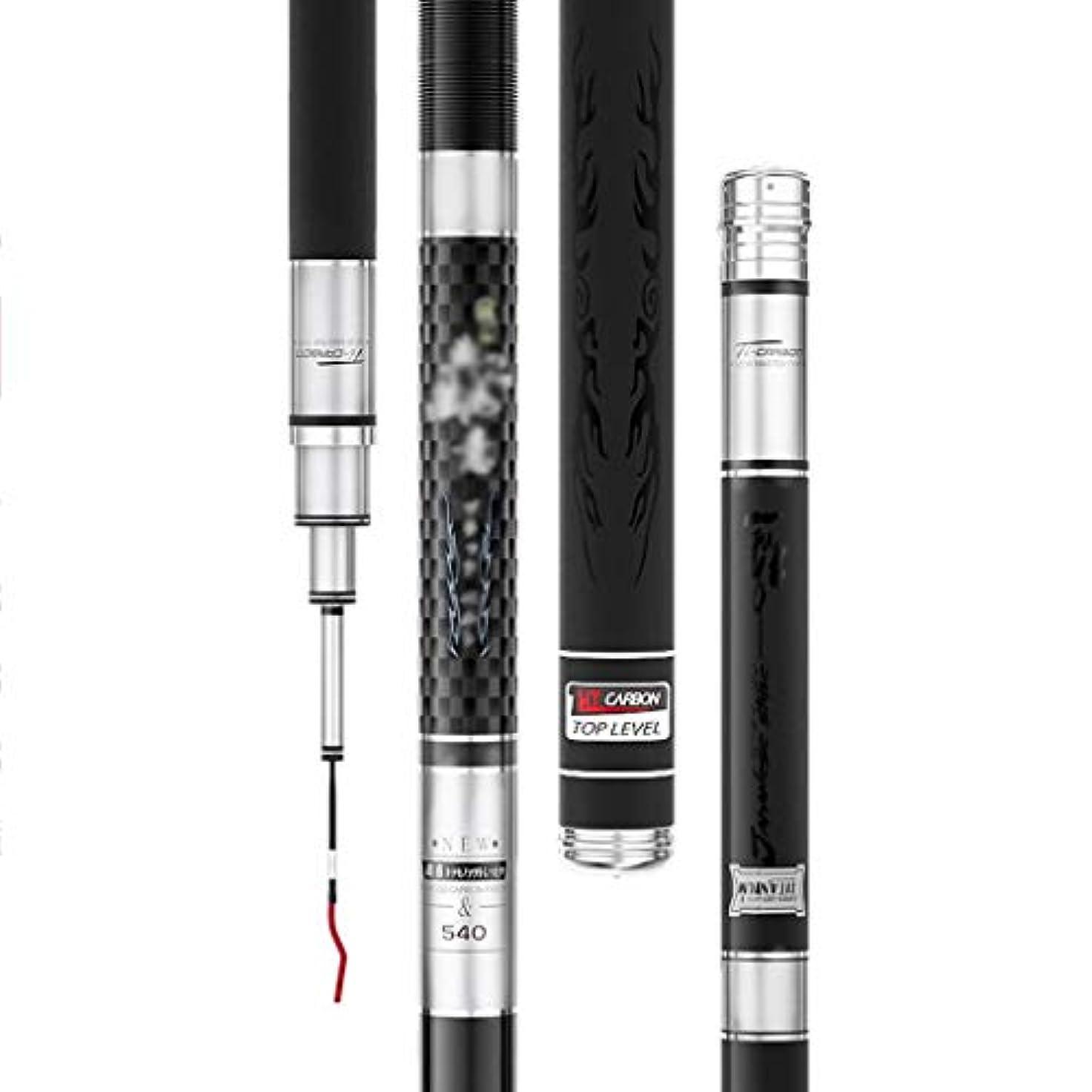 ラッドヤードキップリング避難クリスマスカーボンファイバー釣り竿 超硬 調節可能 伸縮自在 ポータブル 釣り道具 ゴールド シルバー 2色 (3.6m-7.2m) 5.4Meter シルバー juiy0424