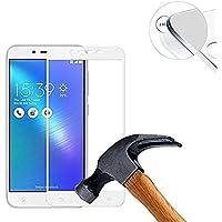 ASUS Zenfone 3 Max ZC553KL ガラスフィルム,NeonTek 全面保護 強化ガラス 99%透過率 高透明度 気泡ゼロ(カラー選択可,ホワイト)