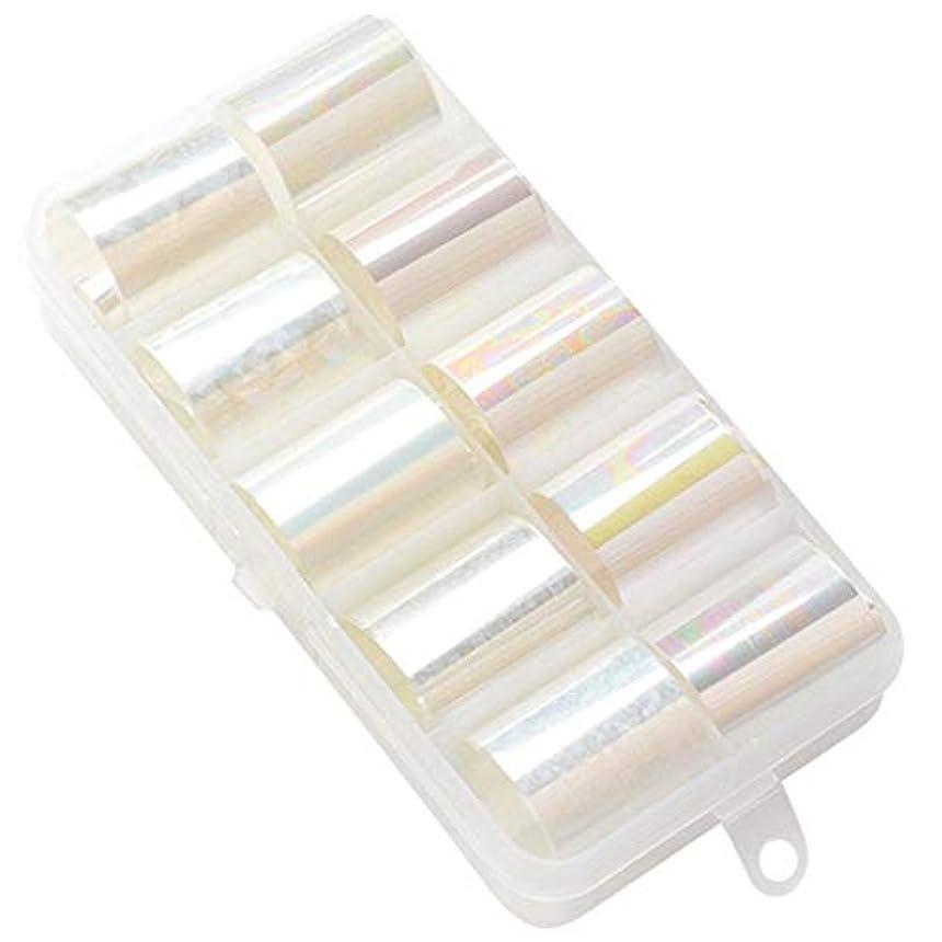 知り合いプランター染色全15カラー 2.5x100cm ネイルフォイル ネイルアート デコレーション シール ステッカー - ミックススタイル06