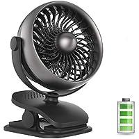 USB扇風機 アロマ機能 クリップ式卓上扇風機 小型携帯扇風機 超静音4段階調節 ミニ扇風機 360度角調節 ミニファン 6枚羽根 (ブラック)