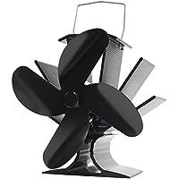 Signstek ストーブファン エコストーブファン 火力熱炉ファン 薪ストーブファン 4ブレード 石油ストーブや薪ストーブ 空気循環 省エネ 静音 50 ℃で動作始め 日本語取扱書付き