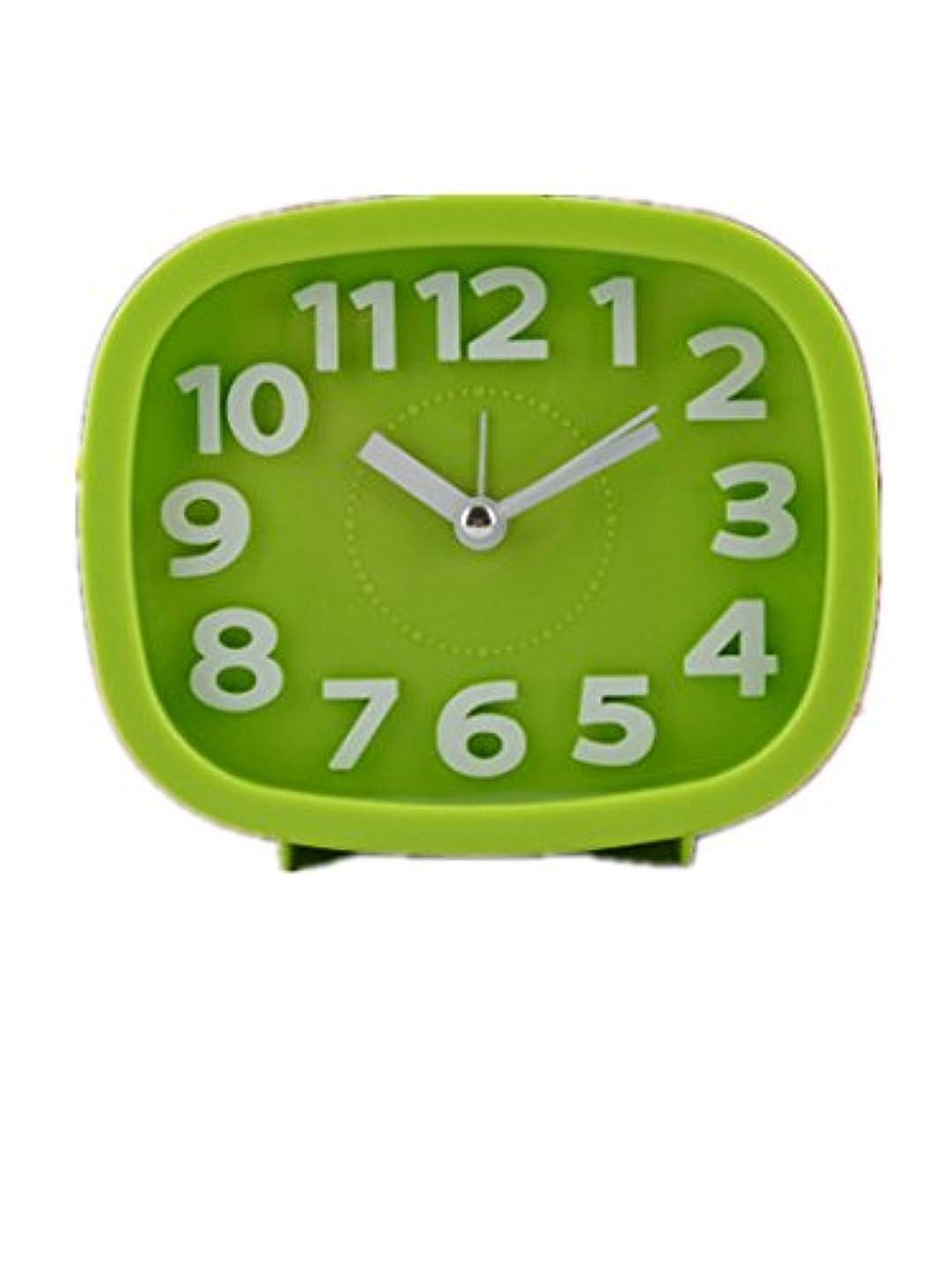 もっと合理的私たちZobba 目覚まし時計楕円形目覚まし時計学生の目覚まし時計漫画目覚まし時計子目覚まし時計寝室の目覚まし時計かわいい外観品質品質 品質保証 (Color : グリーン)