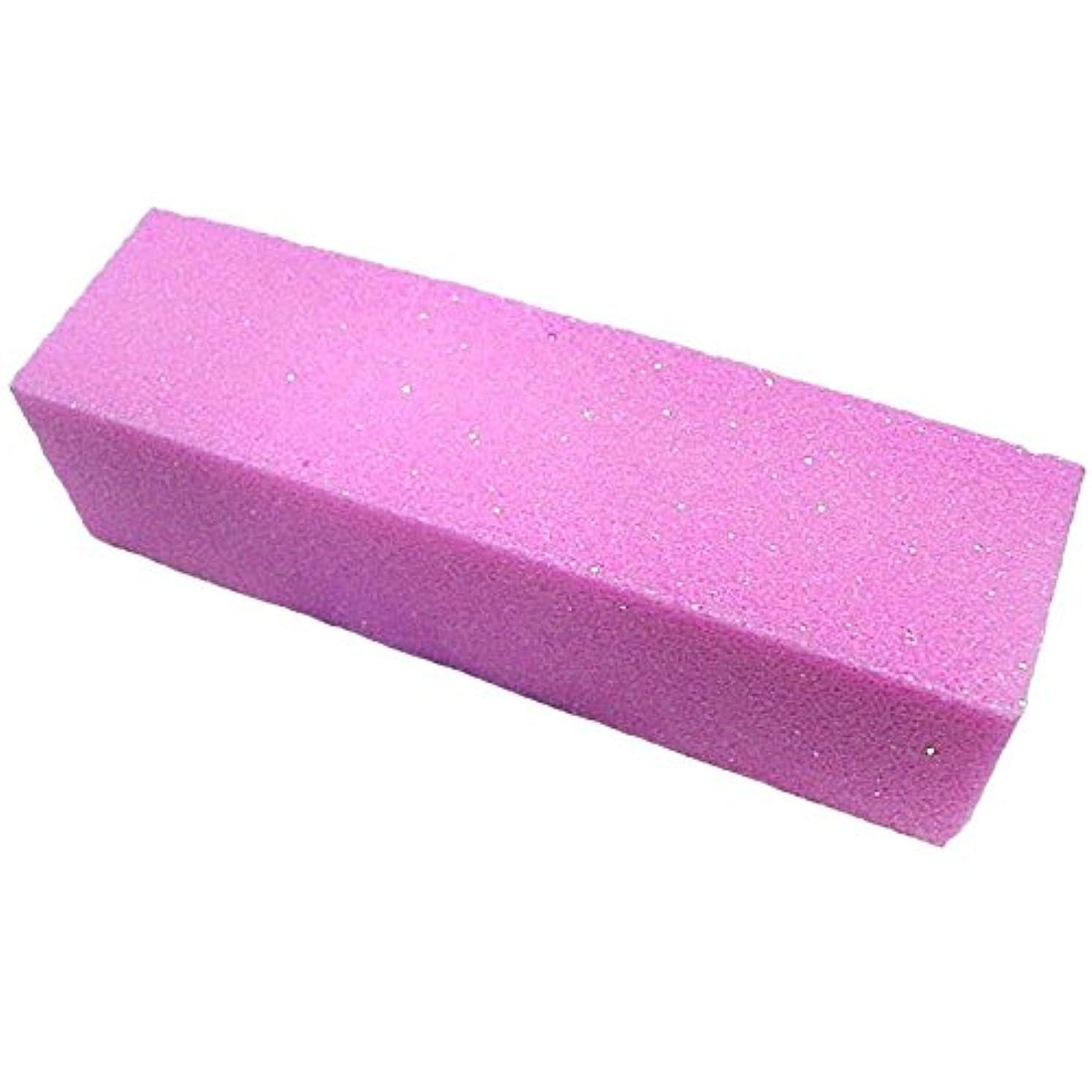 負車バラバラにするNrpfell 10xピンク色のバッファバフサンディングブロックファイル マニキュアペディキュア ネイルアートの為