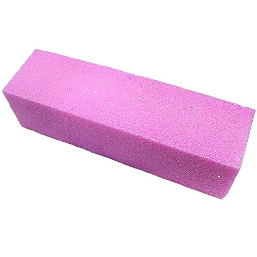 ACAMPTAR 10xピンク色のバッファバフサンディングブロックファイル マニキュアペディキュア ネイルアートの為