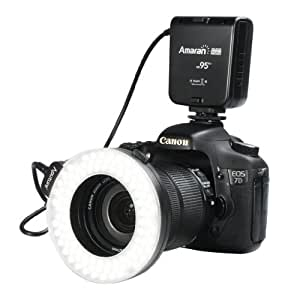 【 Aputure LED 100球 リングライト HC100 】 Canon デジタル一眼レフカメラ対応 オートマクロストロボ