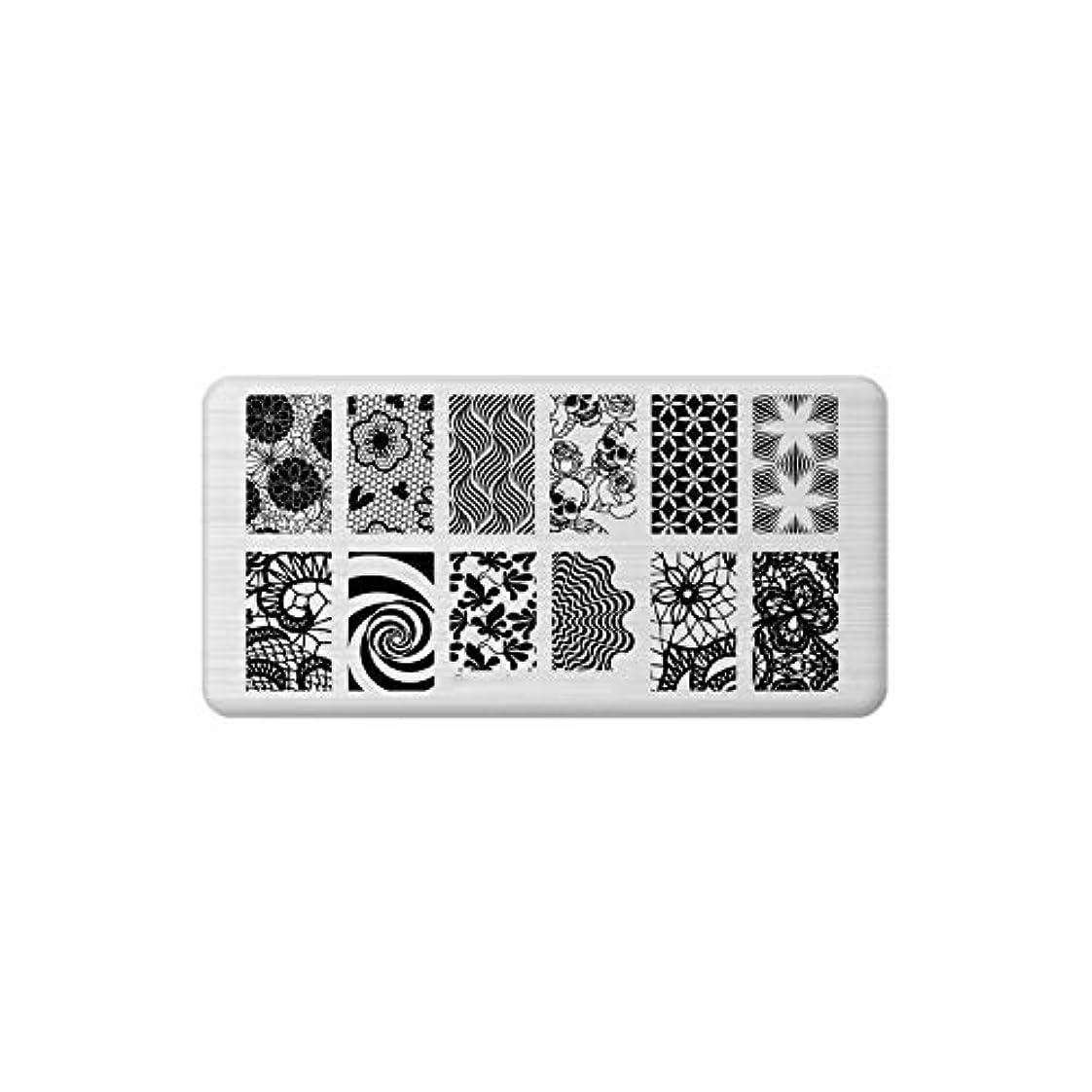 テンポ電極新着フロリダクリスマスシリーズネイルスタンピングプレートフラワーデザインステンレス鋼爪用DIYスタンピングプレート,35