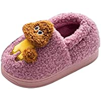 Inlefen Winter Keep warm Boy Slippers Girl Home Child shoes
