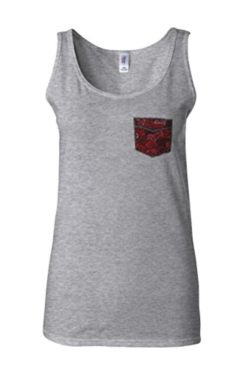 クリエイティブファンタジータクトFloral Rose Drawing Pattern in Pocket Novelty Sports Grey Women Vest Tank Top-XL