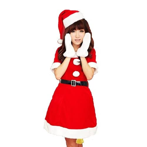 クリスマスサンタコスチューム コスプレ衣装 3点セット