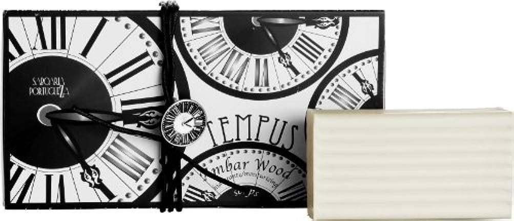 眩惑するプログレッシブ減らすサボアリア テンプス/tempus ソープセット3×180g アンバーウッド