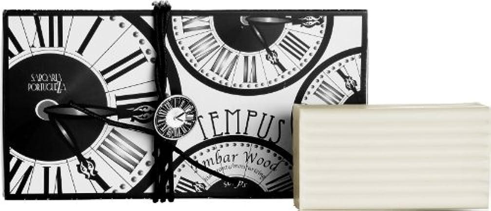 爆発物シミュレートする歴史的サボアリア テンプス/tempus ソープセット3×180g アンバーウッド