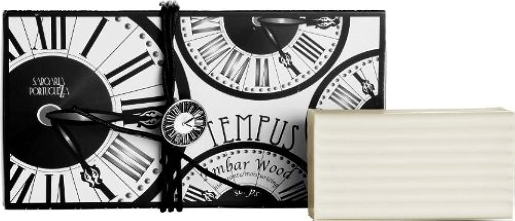 勇者散文に賛成サボアリア テンプス/tempus ソープセット3×180g アンバーウッド