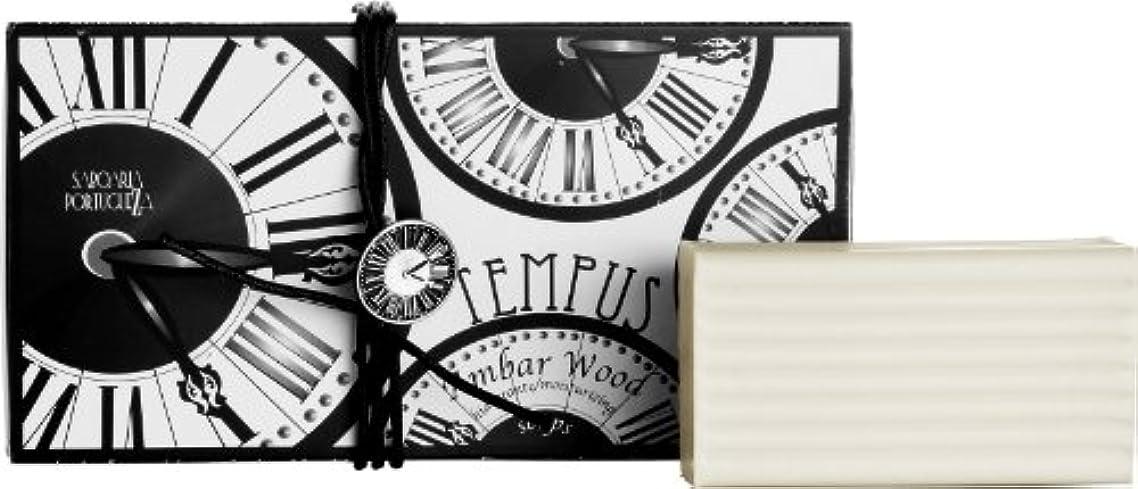 令状燃料公平サボアリア テンプス/tempus ソープセット3×180g アンバーウッド